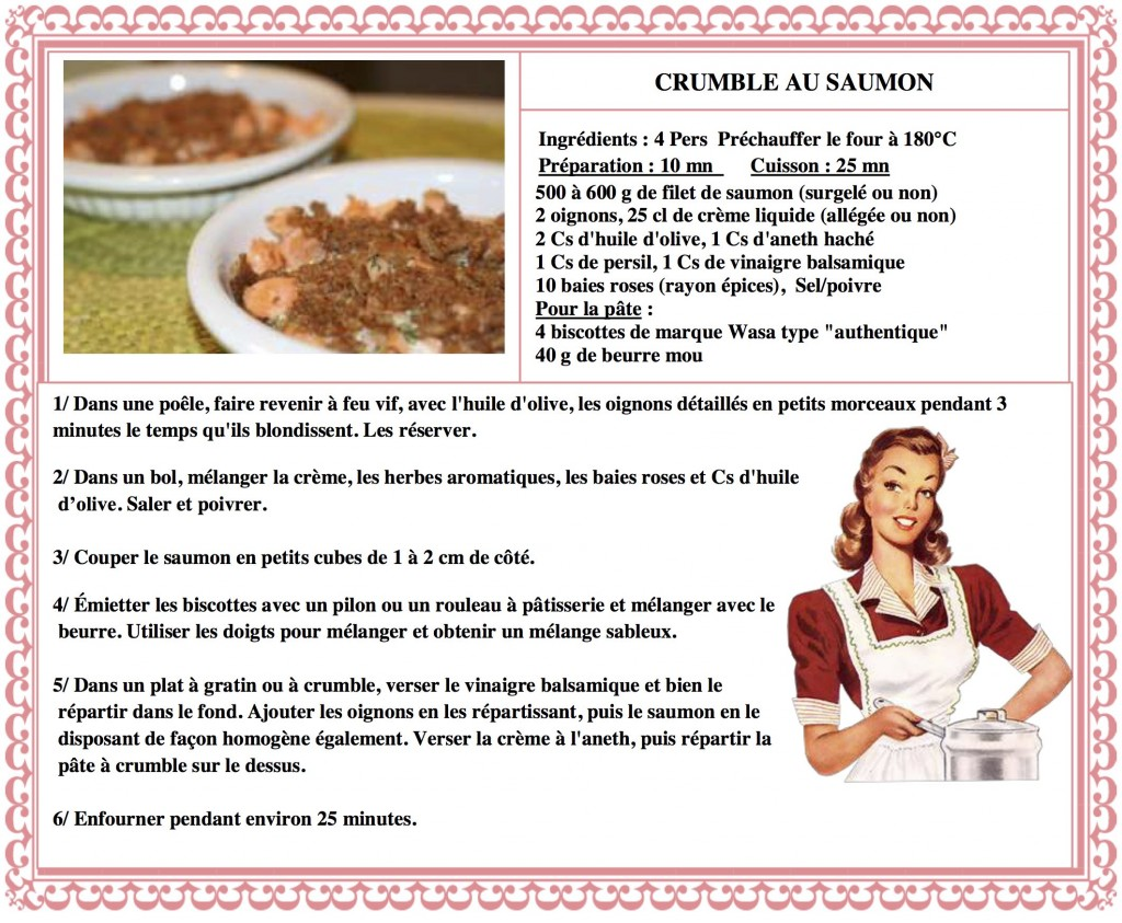 DESPERATELILY.FR 17 Crumble au saumon