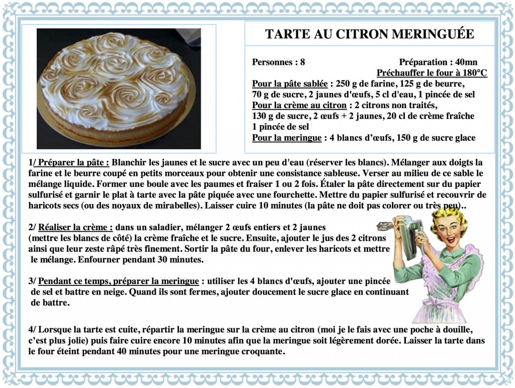 DESPERATELILY.FR 31 Tarte au Citron