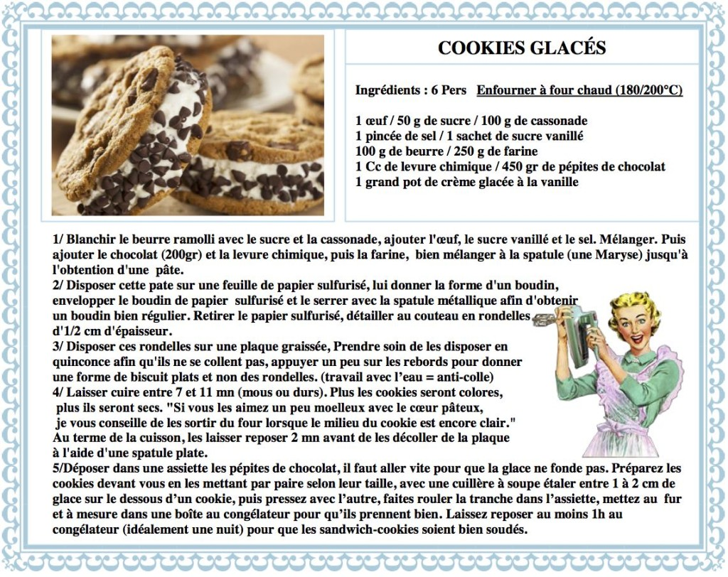 DESPERATELILY.FR 34 COOKIES GLACES